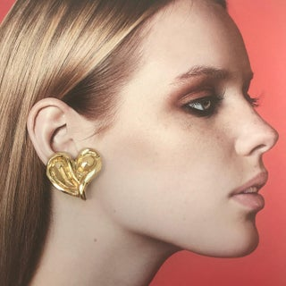 Modernist Haute Couture Heart Earrings. Preview
