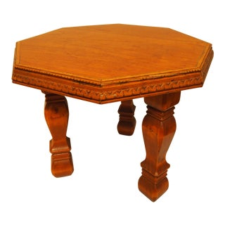 Vintage Octagon Shaped Side Table