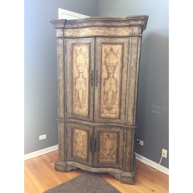 Hooker Furniture Hand Painted Armoire - Image 2 of 8