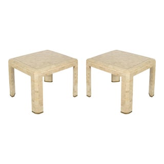 Tessellated Stone Side Tables - a Pair For Sale