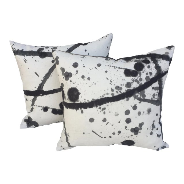 "Pierre Frey ""Leo"" Fabric Abstract Pillows - Pair For Sale"