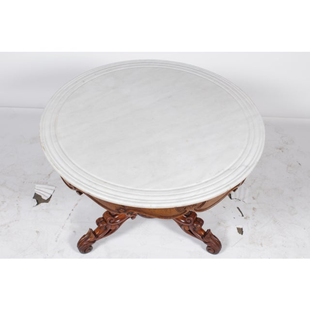 Victorian 1850s Rococo Tudor Rose Center Table For Sale - Image 3 of 8