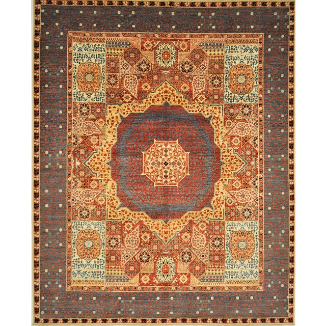 Mamluk Hand Knotted Wool Area Rug - 8'1 X 10'0 - Image 4 of 4
