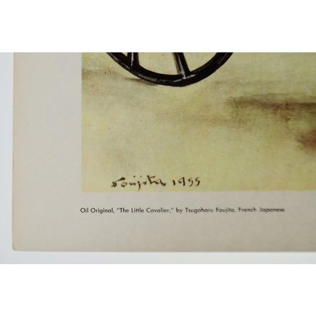 "Asian Tsuguharu Foujita ""Little Cavalier"" Mid-Century Print For Sale - Image 3 of 10"
