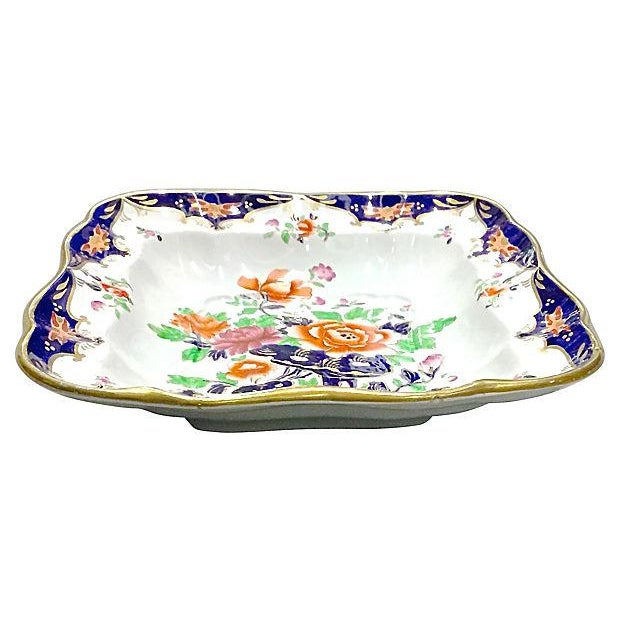 Antique Porcelain Chinoiserie Floral Dish - Image 2 of 5