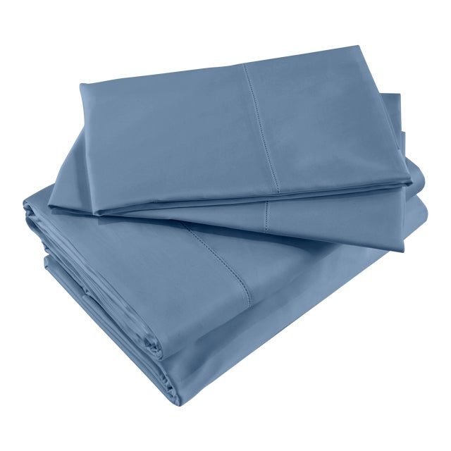 Raffaello Sheet Set in King in Air Force Blue - 4 Pieces For Sale