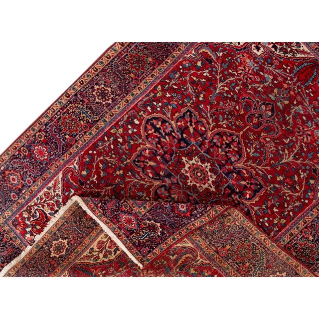 Traditional Mid 20th Century Vintage Persian Rug For Sale - Image 3 of 9