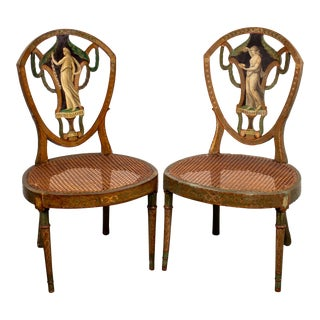 Neoclassical Period Painted Side Chairs For Sale