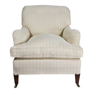 "Upholstered Armchair Attributed to Howard and Sons ""Bridgewater"" Model"