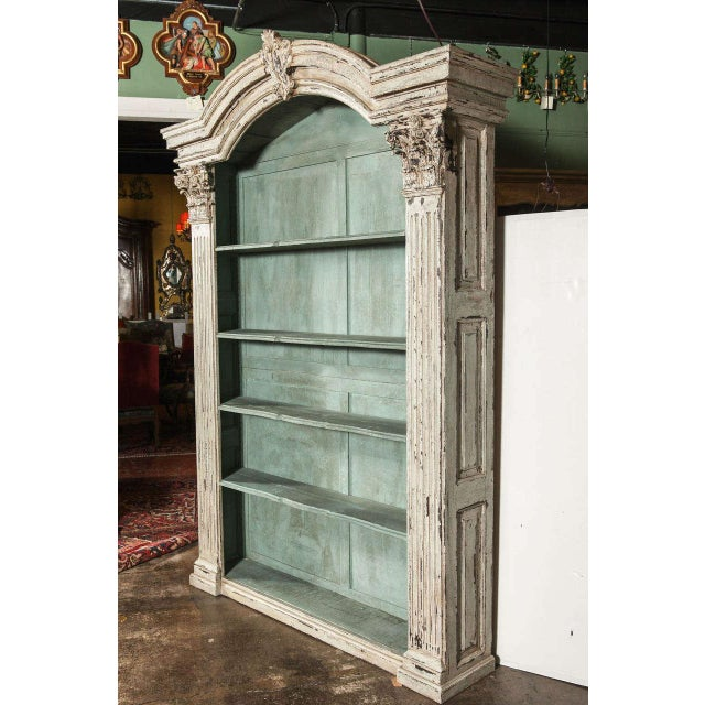 pin bookcases antique bookcase x chic pinterest shabby rococo vintage style french white