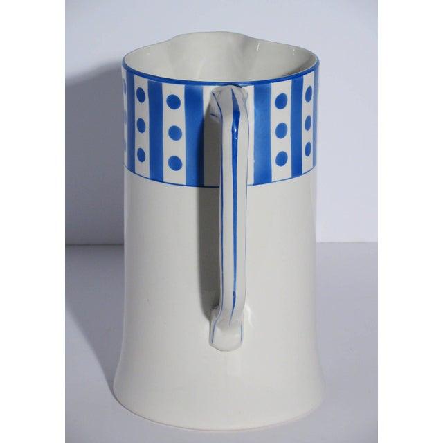 Large Belgian Porcelain Pitcher and Bowl - Image 4 of 9