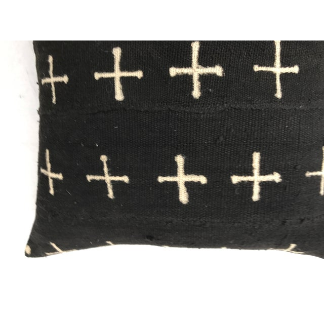 African Mali Tribal Cross Patterned Mud Cloth Pillows- A Pair For Sale - Image 10 of 10