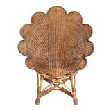Image of Rattan Antiqued Shell Chair For Sale