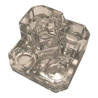 Contemporary Holiday Crystal Candle Holder For Sale