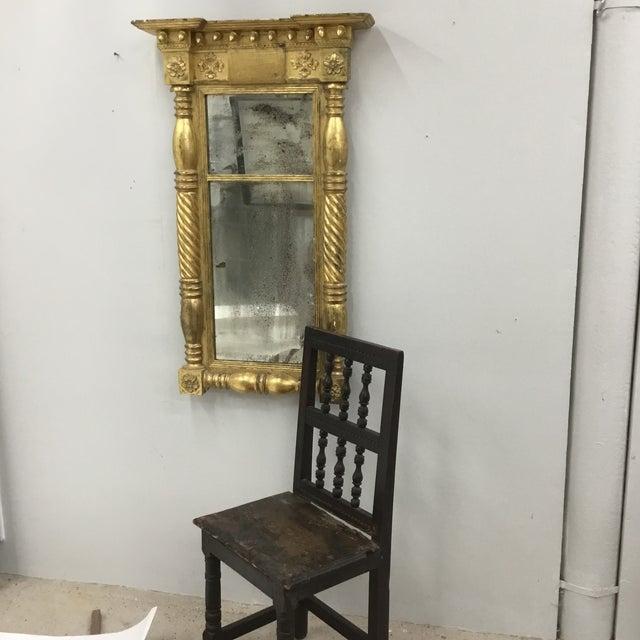 1820 Vintage American Empire Gilt Pier Mirror For Sale - Image 10 of 13