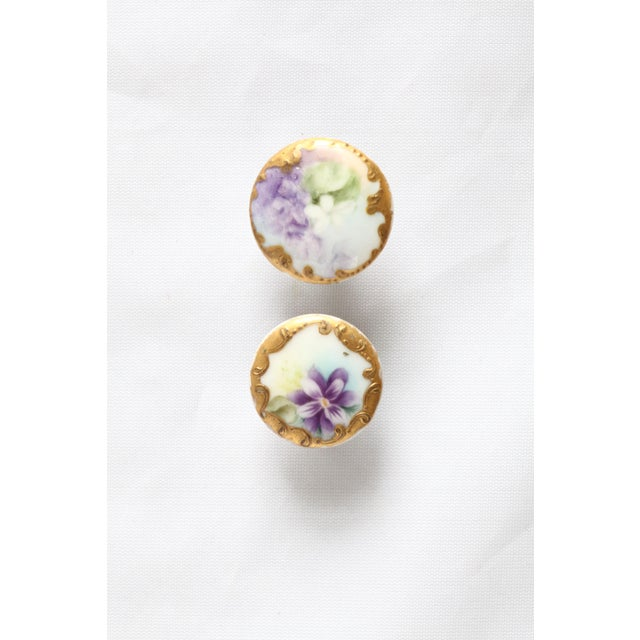 Antique Hand-Painted Porcelain Studs/Buttons - Set of 12 - Image 9 of 11