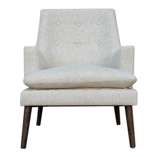 Danish Modern Style Oatmeal Tweed Lounge Chair For Sale