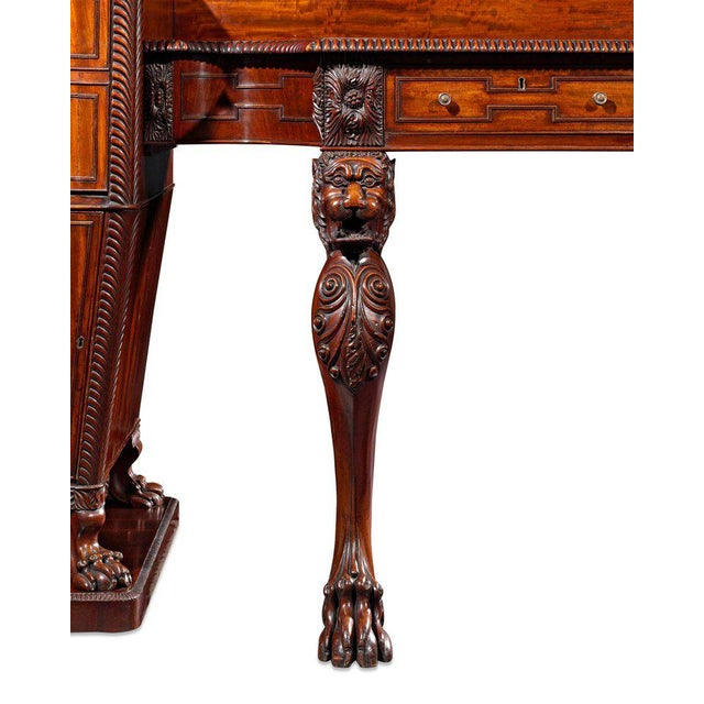 Mid 19th Century Regency Mahogany Pedestal Sideboard For Sale - Image 5 of 8