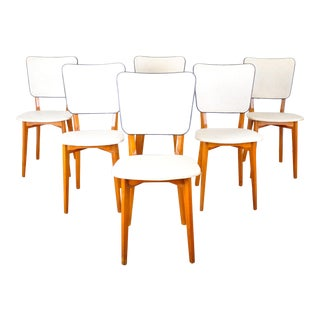 Set of 6 Mid-Century Modern Swedish Birch Dining Chairs For Sale