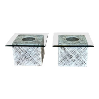 1970s Mid-Century Modern Russell Woodard Spun Fiberglass Side Tables - a Pair For Sale