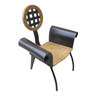 Vintage 1990s Postmodern Sculptural Armchair For Sale