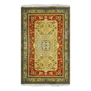 1990s Tabriz Persian Wool Rug-2′6″ × 3′8″ For Sale