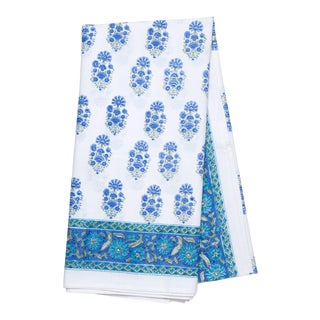 Riya Tablecloth, 8-seat table - Blue For Sale