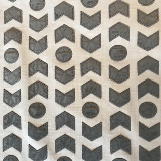 Romo / Zinc Arrowhead Fabric in Mercury - 2 1/2 Yards For Sale