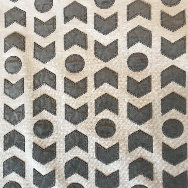 Romo / Zinc Arrowhead Fabric in Mercury - 2 1/2 Yards For Sale