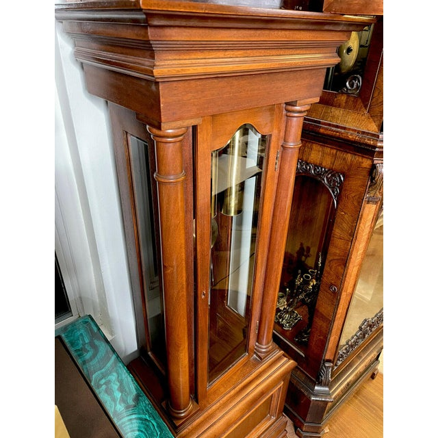 """Antique Waterbury Grandfather Clock - """"801 Hall Chime Clock"""" Model For Sale - Image 9 of 13"""