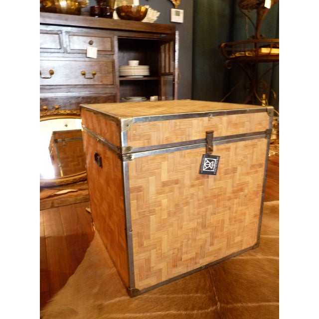 Woven Wood Storage Trunk - Image 2 of 10