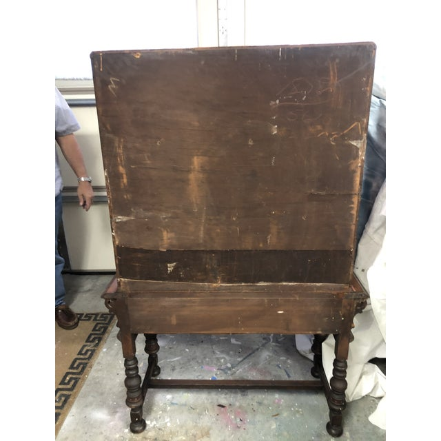 Chinese Red Cabinet or Dry Bar For Sale - Image 12 of 13