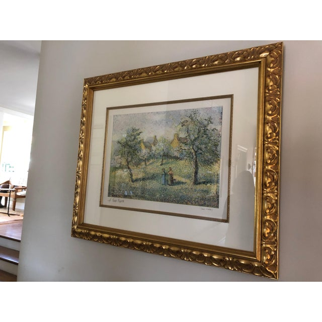 1900s Impressionist Print of Framed Trees in Bloom Aquatint Signed by H Claude Pissarro For Sale - Image 10 of 12