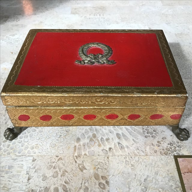 Italian Gilt Footed Trinket Box - Image 2 of 5