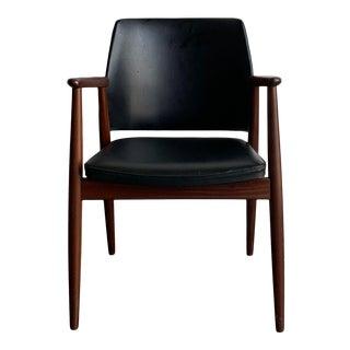 Mid Century Black Vinyl Chair For Sale