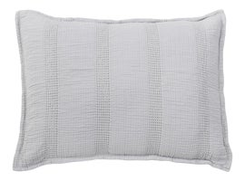 Image of Light Gray Pillow Shams