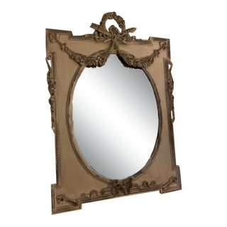 Large Exquisite Design French Mantle Mirror For Sale