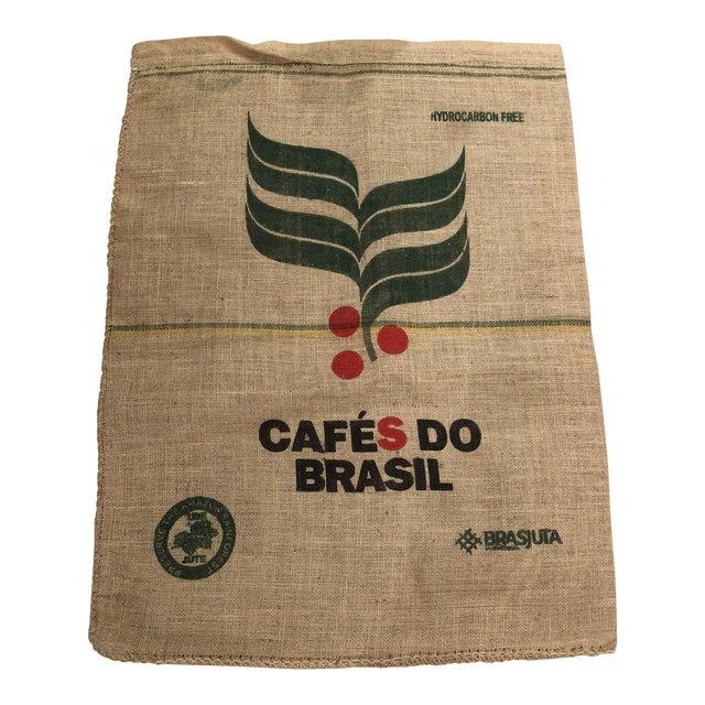 Vintage Brasil Coffee Bag For Sale