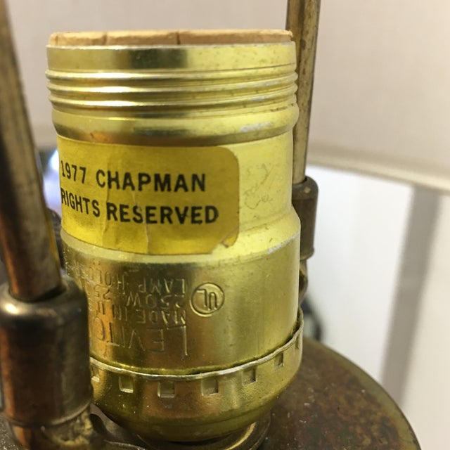 1977 Faceted Chapman Brass Lamps - a Pair - Image 7 of 8