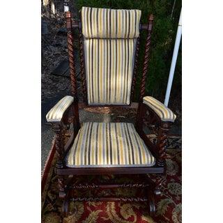 1880s Vintage George Hunzinger Barley Twist Walnut Platform Rocker Rocking Chair Preview