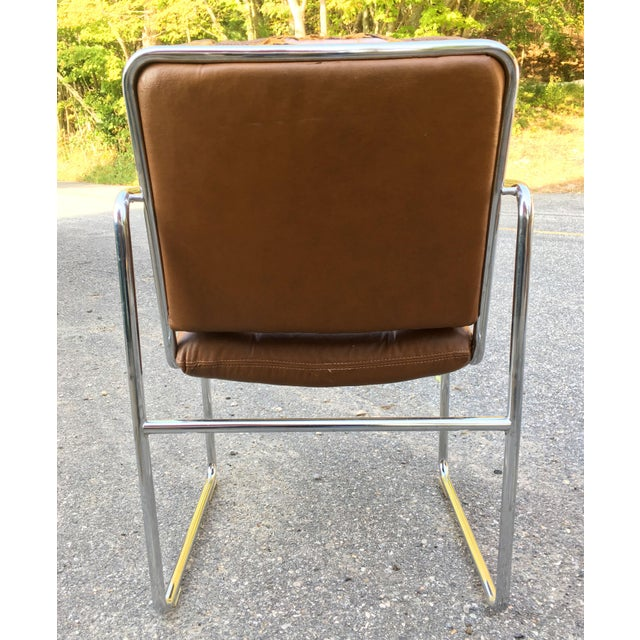 1970s ChromCraft Tubular Chrome Dining Chairs - Set of 4 For Sale - Image 5 of 9