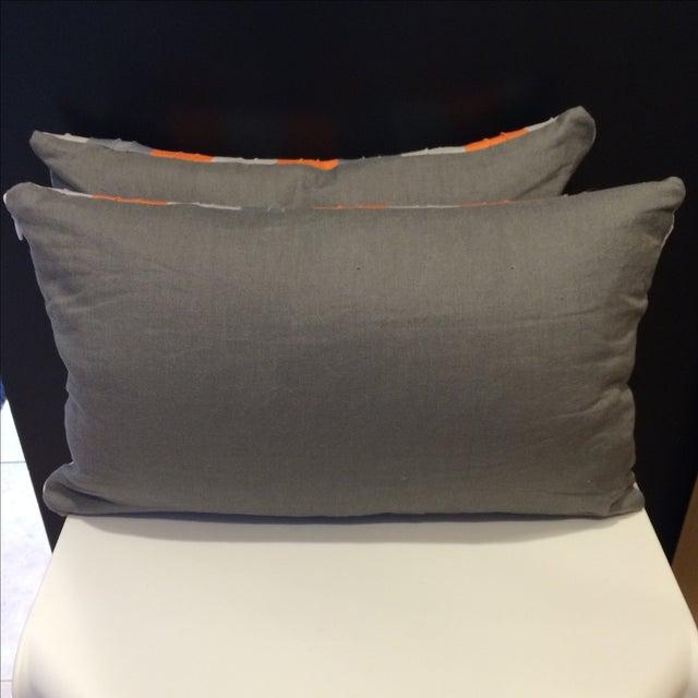 Bolsters in Orange & Grey - A Pair - Image 3 of 3