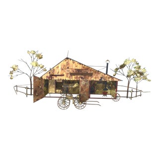 Mid-Century C. Jere Blacksmith Metal Wall Sculpture For Sale