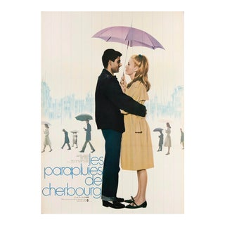 "Vintage Original 1964 Japanese ""The Umbrellas of Cherbourg"" Catherine Deneuve Poster For Sale"