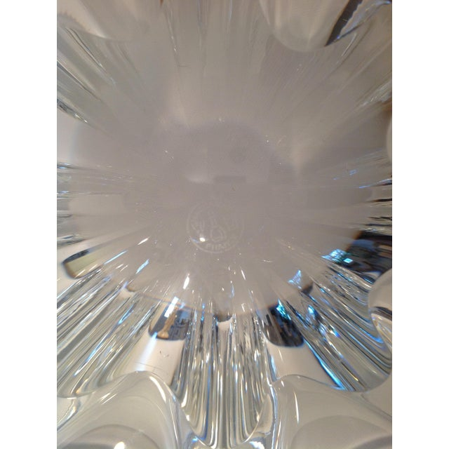 Baccarat Crystal Etched Accent Bowl For Sale In Miami - Image 6 of 7