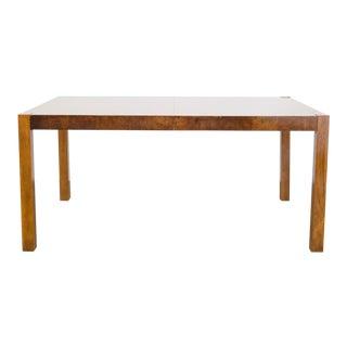 Drexel Modern Burl Extension Table