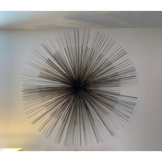 Metal Curtis Jere Pom Pom Wall Sculpture For Sale - Image 7 of 11
