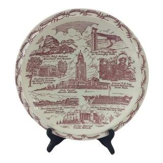 Vintage Nebraska Souvenir Plate For Sale