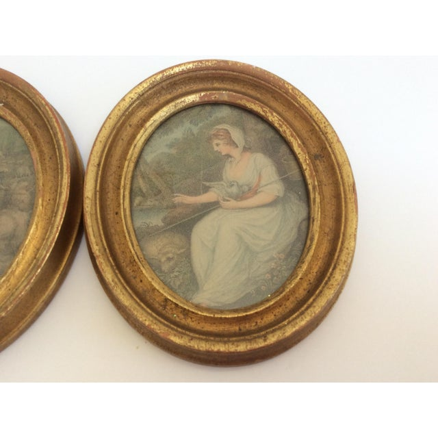 Antique Oval Framed Antique Mezzotints - A Pair For Sale In San Antonio - Image 6 of 9