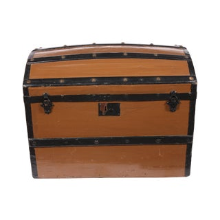1870s Danish Rounded Top Trunk For Sale